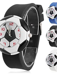 Kinderen Modieus horloge Kwarts Silicone Band Cartoon Zwart Wit Blauw Wit Zwart Blauw