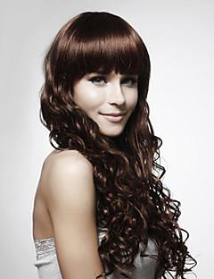 sin tapa larga de alta calidad sintética rizada peluca de pelo colores disponibles múltiples