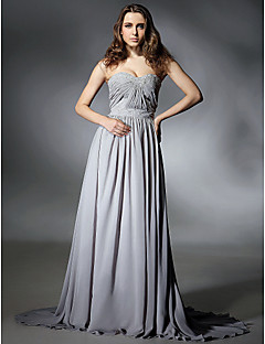 TS Couture Prom Formal Evening Dress - Elegant Celebrity Style A-line Strapless Sweetheart Sweep / Brush Train Chiffon withBeading