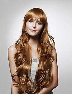 사용 가능한 capless 긴 고품질의 합성 곱슬 머리 가발 여러 색상