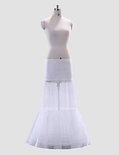 Spodničky Do áčka Na zem 1 Elastan Polyester Biały