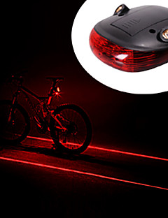 vodootporna 2 Straight Lines Red Laser + 3-Mode 3-LED Bike Tail Warning Safety svijetlo(2xAAA)