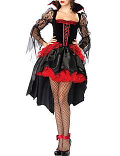 Fancy Lace Demon Dress Halloween Costume (2 Pieces)