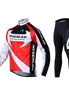 mysenlan mænds vinter varm langærmede cykling jakkesæt 2 sider fleece rød efteråret falde