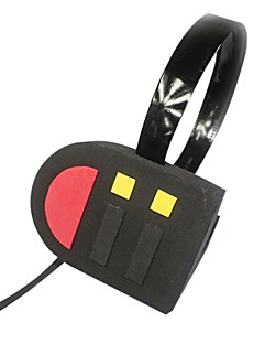 Cosplay Accessories Inspired by Vocaloid Hatsune Miku Anime/ Video Games Cosplay Accessories Headphones Black / Red PVC Female
