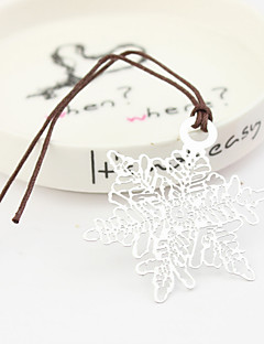 Snow Design Bookmarks With Leather Cord