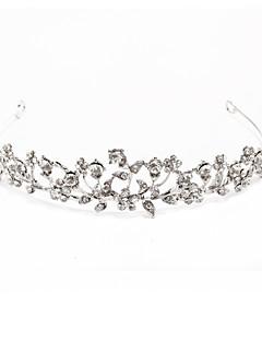 silverlegering strass och pärla brudkläder tiara