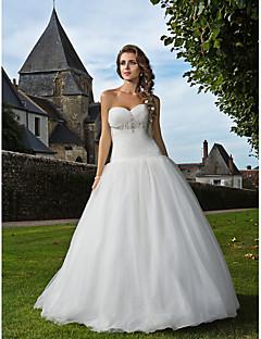 Lanting sposa in forma& bagliore petite / più dimensioni abito da sposa-pavimento-lunghezza di Tulle dell'innamorato