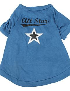 犬用品 Tシャツ ブルー 犬用ウェア 春/秋 Stars