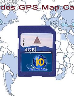 cartão elogios gps mapa, com cartão SD padrão 4gb