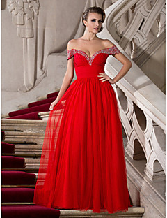 TS Couture® Formal Evening / Prom / Military Ball Dress - Ruby Plus Sizes / Petite A-line / Princess Off-the-shoulder / Sweetheart Floor-lengthTulle