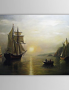 Hand-painted Oil Painting A Sunset Calm in the Bay of Fundy Landscape Bradford William
