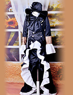Inspired by Black Butler Ciel Phantomhive Anime Cosplay Costumes Cosplay Suits Vintage Black / Blue Long Sleeve Dress / Hat