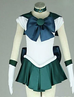 Inspired by Sailor Moon Sailor Neptune Anime Cosplay Costumes Cosplay Suits Patchwork Short Sleeve Dress Tie For Female