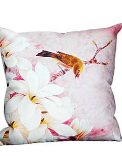 printemps floral et taie d'oreiller décoratif oiseau