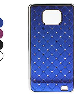 Stjerne himmel mønster Hard Cover med diamant til Samsung Galaxy S2 I9100 (blandede farver)