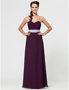 Military Ball / Formal Evening / Wedding Party Dress - Grape Sheath/Column Strapless / Sweetheart / Spaghetti Straps Floor-length Chiffon