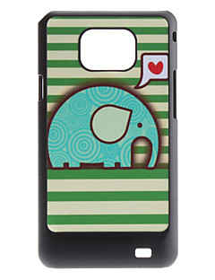 Flash Design Cute Elephant Mønster Hard Case til Samsung Galaxy S2 I9100