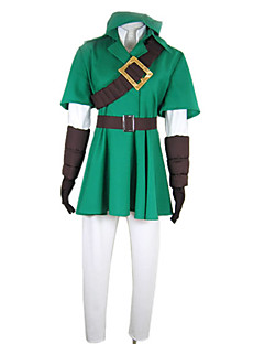 geinspireerd door The Legend of Zelda Link Deluxe Video Spel Cosplay Kostuums Cosplay Kostuums Patchwork  GroenJas / Hemd / Broeken /
