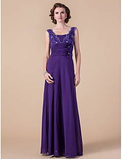 A-line Plus Sizes / Petite Mother of the Bride Dress - Regency Floor-length Sleeveless Chiffon / Lace