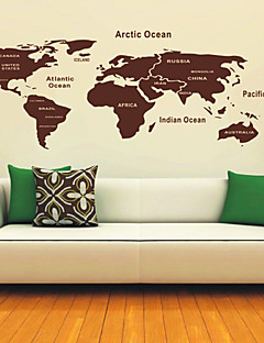 Verdenskart Wall Stickers
