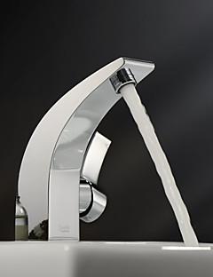 lightintheboxによって®を振りかける - クローム仕上げシングルハンドルcenterset固体真鍮の浴室のシンクの蛇口