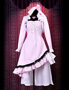 Inspirerad av Shugo Chara Utau Hoshina anime Cosplay dräkter cosplay Suits Lappverk Vit Topp