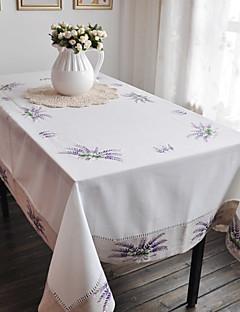 퍼플 클래식 폴리 에스터면 꽃 테이블 천