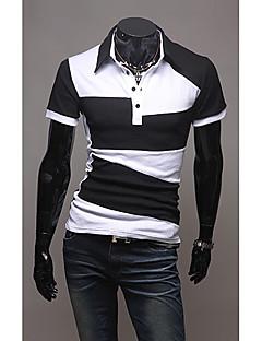 Men's Polo T-shirt met gekleurde blokkeren