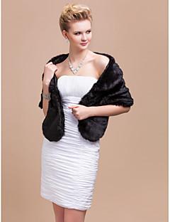 Elegant Faux Rabbit Fur Party / Evening Shawl / Wrap