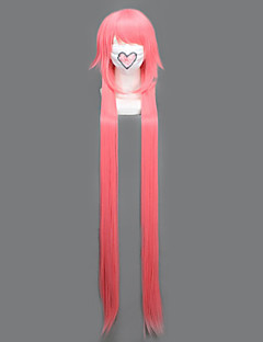 Cosplay Wigs Cosplay Gasai Yuno Pink Extra Long Anime Cosplay Wigs 135 CM Heat Resistant Fiber Female