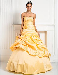 TS Couture Baile de Fim de Ano Evento Formal Festa de 15 Anos Baile de Debutante Vestido - Inspiração Vintage Linha A De Baile Princesa