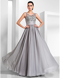 TS Couture® Formal Evening / Military Ball Dress - Vintage Inspired / Elegant Plus Size / Petite A-line / Princess V-neck Floor-length Chiffon / Tulle