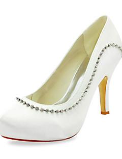 Cetim bombas estilete salto com espumante brilho sapatos de casamento (mais cores)