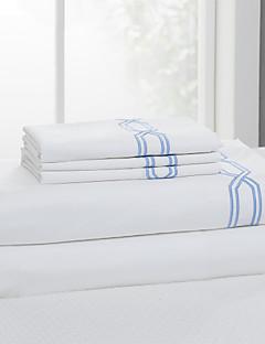 """einfach&opulence® Spannbettlaken, 300 tc 100% Baumwolle feste weiße bis 15 """"tief"""