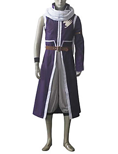 Inspired by Fairy Tail Natsu Dragneel Anime Cosplay Costumes Cosplay Suits Patchwork White / PurpleCoat / Pants / Scarf / Waist Accessory