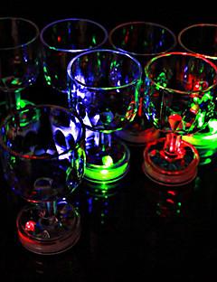 farve blinkende lille bæger med LED-blitz lys (1 stk)