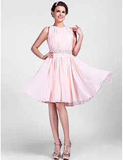 TS Couture® Cocktail Party / Wedding Party Dress - Pearl Pink Plus Sizes / Petite A-line / Princess Jewel Knee-length Chiffon