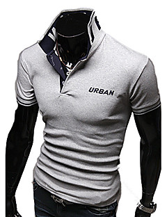 Männer Ständer Stickerei Short Sleeve Fitted Polo Shirt