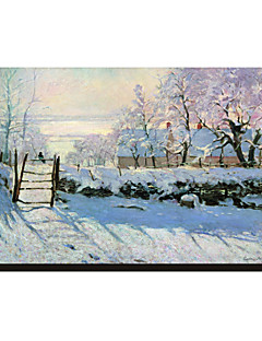 The Magpie, 1869 by Claude Monet Famous Stretched Canvas Print