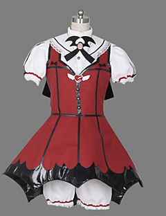 One-Piece/Dress Gothic Lolita Lolita Cosplay Lolita Dress Patchwork Short Sleeve Short Length Blouse Dress Shorts Headband Gloves For