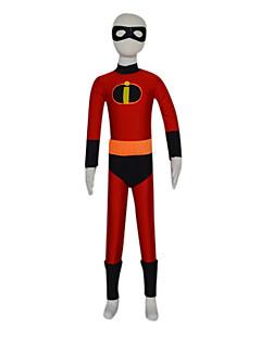 Zentai Suits Super Heroes Zentai Cosplay Costumes Red / Black Solid Mask / Briefs / Zentai Spandex Kid Halloween / Christmas