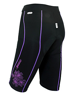 SANTIC Žene Bicikl Kratke hlače Podstavljene kratke hlače Donji Prozračnost Podesan za nošenje Pad 3D Spandex Najlon JednobojniProljeće