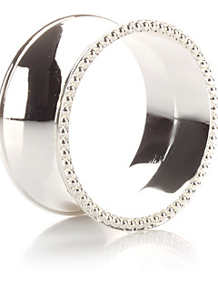 Set of 4 Luxury Modern Design Zinc Alloy Napkin Ring
