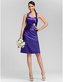 Lanting Bride® Mi-long Satin Elastique Robe de Demoiselle d'Honneur  Fourreau / Colonne Coeur / Bretelles Grande Taille / Petite avec