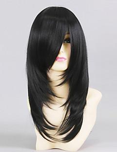 Cosplay Wigs Love Live Yayoi Shioiri Black Medium Anime Cosplay Wigs 50 CM Heat Resistant Fiber Male