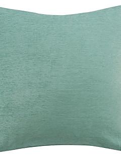 Chenille Bleu Couvercle solide en polyester Coussin décoratif