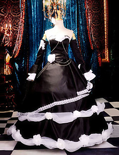 Inspired by Vocaloid Kagamine Rin Video Game Cosplay Costumes Cosplay Suits / Dresses Patchwork Black SleevelessDress / Headpiece /