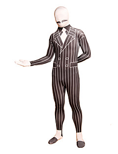 Musta Striped Business Suit Lycra Full Body Suit