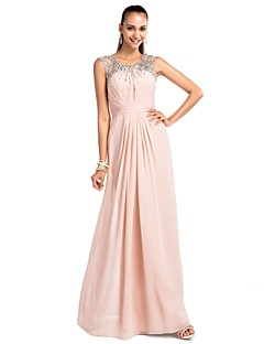 Prom / Formal Evening / Military Ball / Wedding Party Dress - Plus Size / Petite Sheath/Column Jewel Floor-length Chiffon